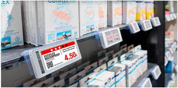 Las Etiquetas Electrónicas sustituyen a las tradicionales impresas, permiten una actualización automatizada, tanto de precios como de mensajes informativos o publicitarios